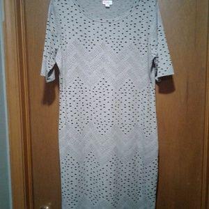 Lularoe Gray Julia Dress 2XL